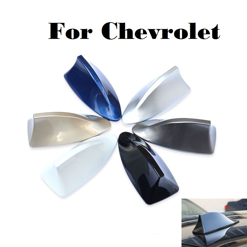 2017 Car styling Auto Radio shark fin Car antenna signal for Chevrolet Lanos Malibu Metro Monte Carlo MW Niva Sail Sonic Spark car shark fin antenna radio signal refitting accessories for toyota corolla rav4 yaris prius hilux avensis camry car styling