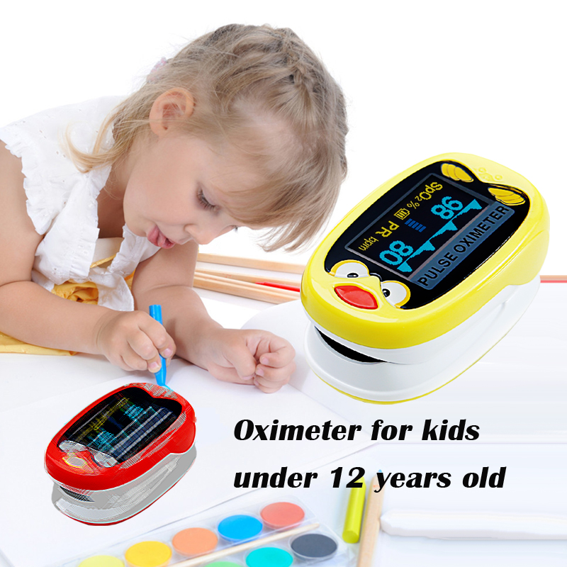 2 pcs Lot Fingertip Pulse Oximeter for Pediatric Children kids oximetro Pulsoximeter De Pulso De Dedo