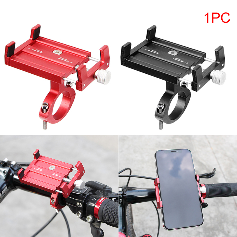 Universal Aluminium Alloy Bike Phone Holder 3 5 6 2 inches Mobile Phone GPS Bicycle Bracket Mount Phone Support 137 in Bicycle Rack from Sports Entertainment