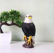 WYZHY Simulation bird animal model eagle static model ornaments true feather  10CMx9CMx22CM