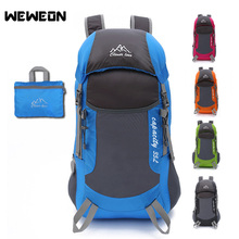 Outdoor Sport Bags Lightweight Water Resistant Nylon Outdoor Backpack Travel Trekking Foldable Bag 35L Mountaineering Backpack