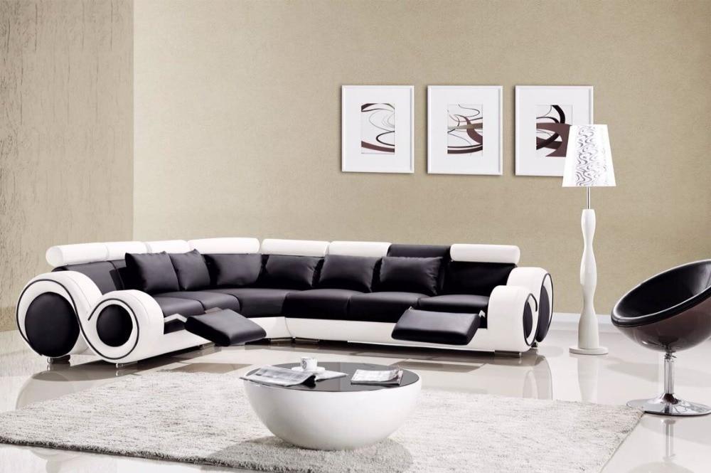 2015 designer modern top graded cow Recliner leather sofa set Living ...