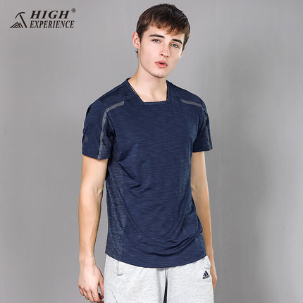 HIGH EXPERIENC T Shirts for Men Running Short Sleeved t Shirts Free Shipping New Mountaineering Outdoor Fast dry