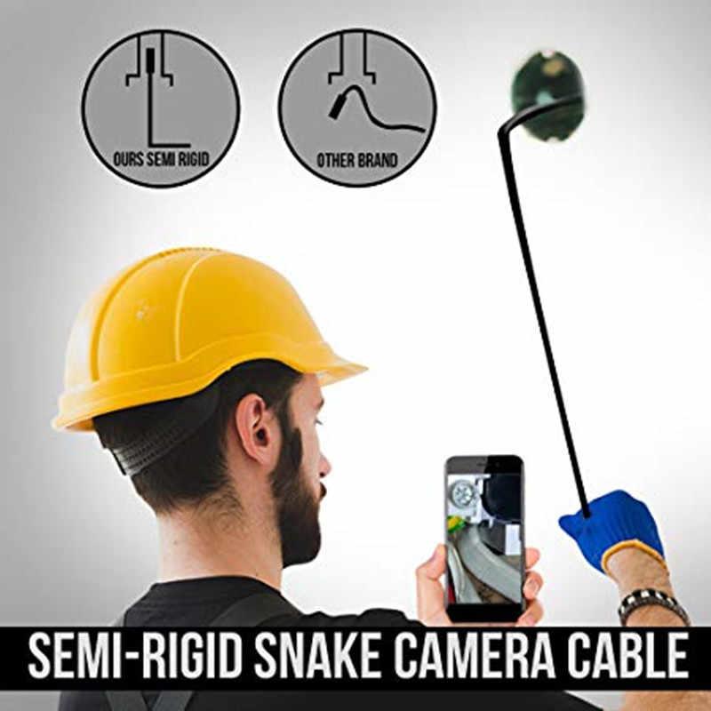 Type-C endoscoop 5.5mm lens 1/3/5/7/10 m semi stijve kabel usb android endoscoop camera waterdichte led Borescopen voor auto reparatie