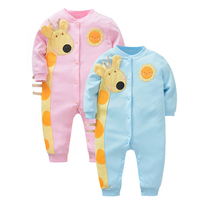 Autumn Winter Baby Clothes Newborn Infant Clothes Baby Boy Girl Cartoon Animal Romper Warm Baby Clothing