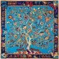 130 см * 130 см 100% Натуральный Шелк Евро Фирменный Стиль Женщины Богемия Национального Ветра Дерево и Слон Шелковый шарф Femal Моды Шали