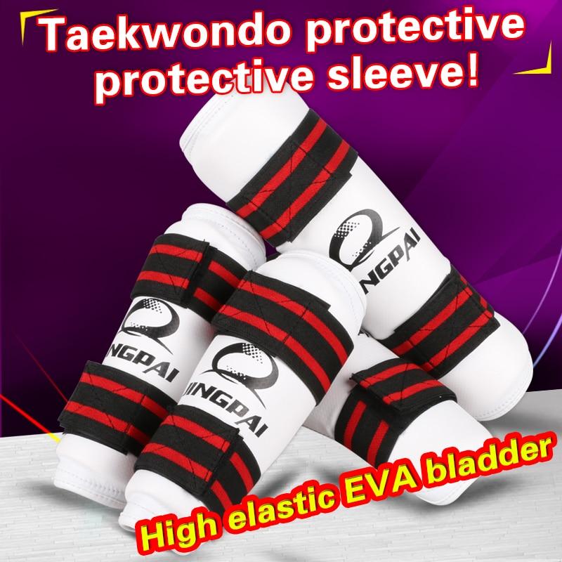 Taekwondo Arm Shin Guards Kick Boxing Protector Sanda Taekwondo Boxing Leggings Ankle Protection For MMA Muay Thai Shin Pads