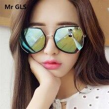 Brand Shield Cat Eye Sunglasses Women HD Lens Glasses Hot Sale Alloy Frame Feminino Steampunk Sun Glasses UV400 Oculos LI39