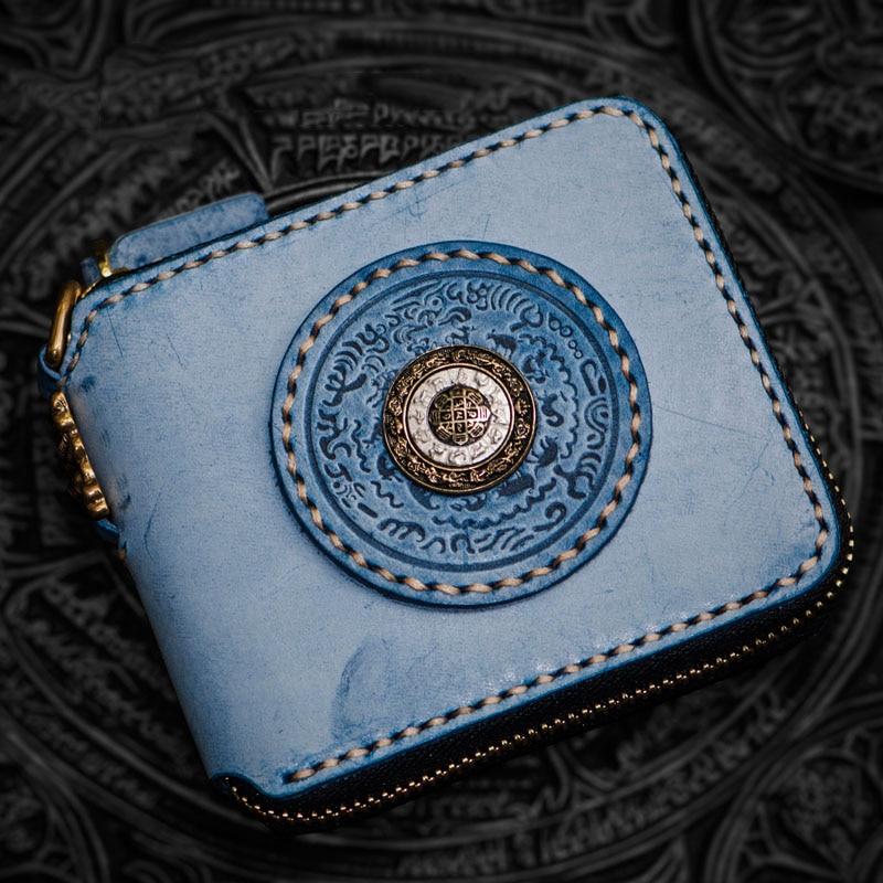 Здесь продается  Fun unique creative rotating hand-mist wax calfskin wallet women luxury brand luxury short square zipper men wallets  Камера и Сумки