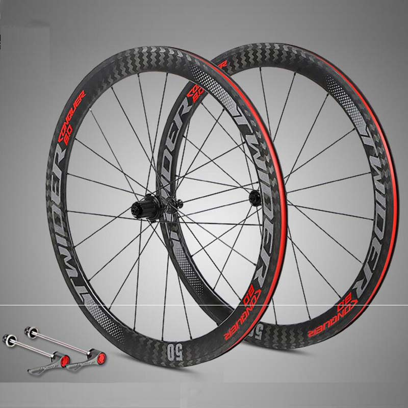 New Bicycle wheelset 700C 12K carbono racing road bike wheels 50mm depth Tubular Clincher carbon bicycle rim wheels Wheelset summer baby boy rompers 100