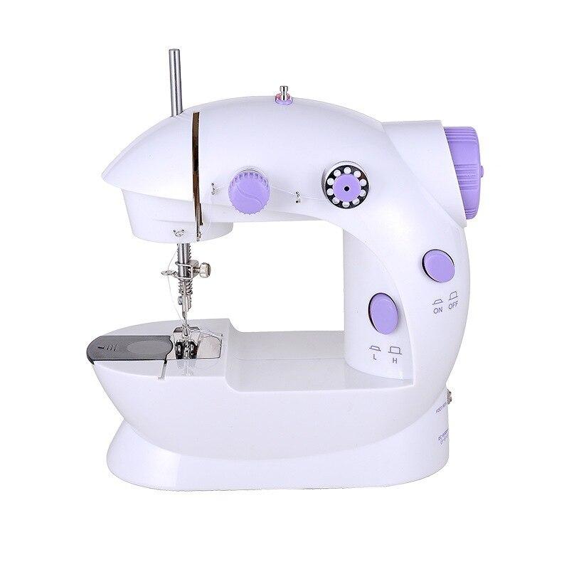 Mini Machine à coudre électrique domestique double vitesse avec alimentation petit transformateur de ceinture de ménage