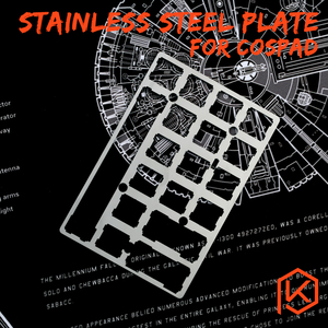 20% cospad XD24 Stainless steel Plate Mechanical Keyboard Plate support PAD GHPAD Numpad(China)