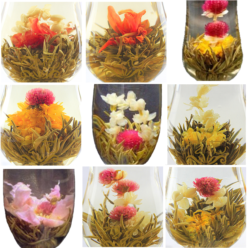 20pcs jasmine flower tea individual vacuum package 20 kinds of handmade blooming flower jasmin tea for