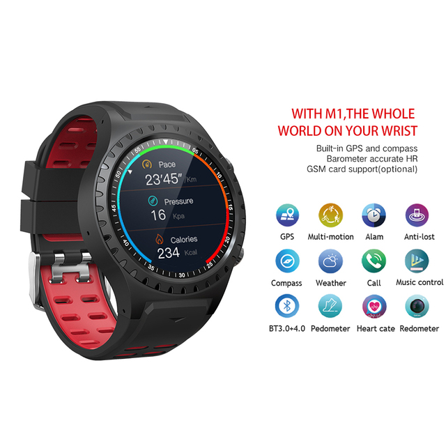 Silicone Smart Watch With GPS And Compass