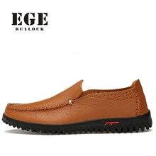 Los hombres de los Holgazanes Tamaño Grande Hecho A Mano Suave Genuina Verano De Cuero Transpirable Masculino Pisos Ocio Zapatos de Marca de Marca de Alta Calidad para Los Hombres