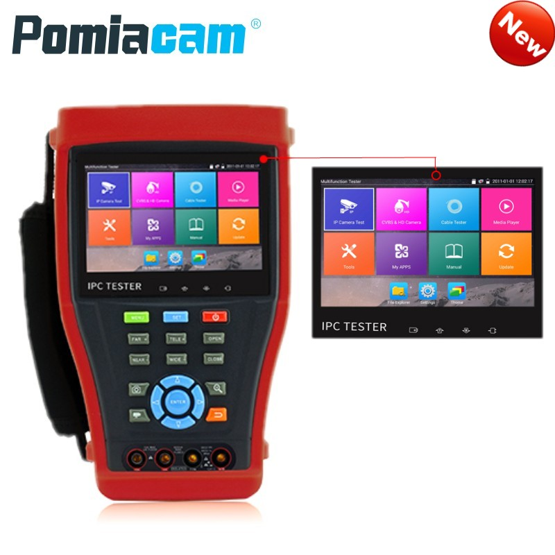 DHL Free IPC4300 CCTV Tester Monitor POE 8MP TVI CVI 5MP AHD SDI H.265 IP Camera Test With WIFI Digital Multimeter,Cable Tracer