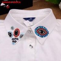 Colarinho falso Decoração Acessório Bonito Beading Olho Modelada Camisa Branca Golas Destacáveis A69