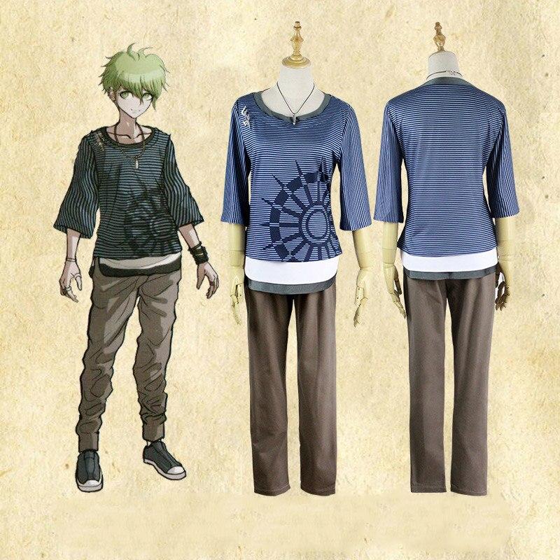 Danganronpa V3 Amami Rantarou Cosplay Costume for man and woman Full set shirt pants necklace