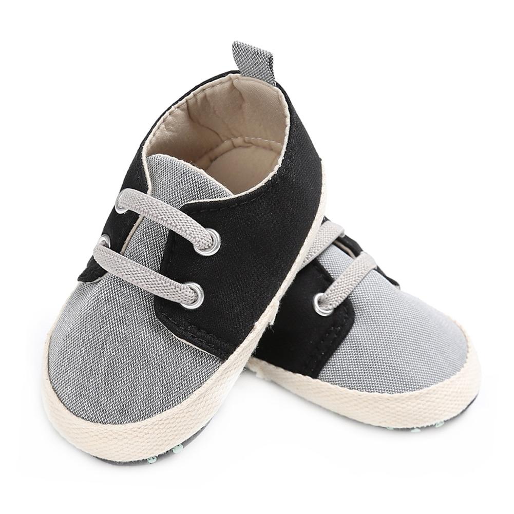 Merk Baby Boy Wieg Schoenen voor Meisjes Elastische Band Pasgeboren - Baby schoentjes - Foto 4