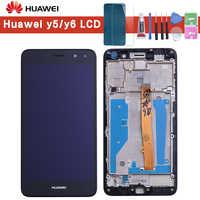 Pour Huawei Nova Young 4G LTE/Y6 2017/Y5 2017 MYA-L11 MYA-L41 écran LCD + écran tactile numériseur assemblée avec cadre