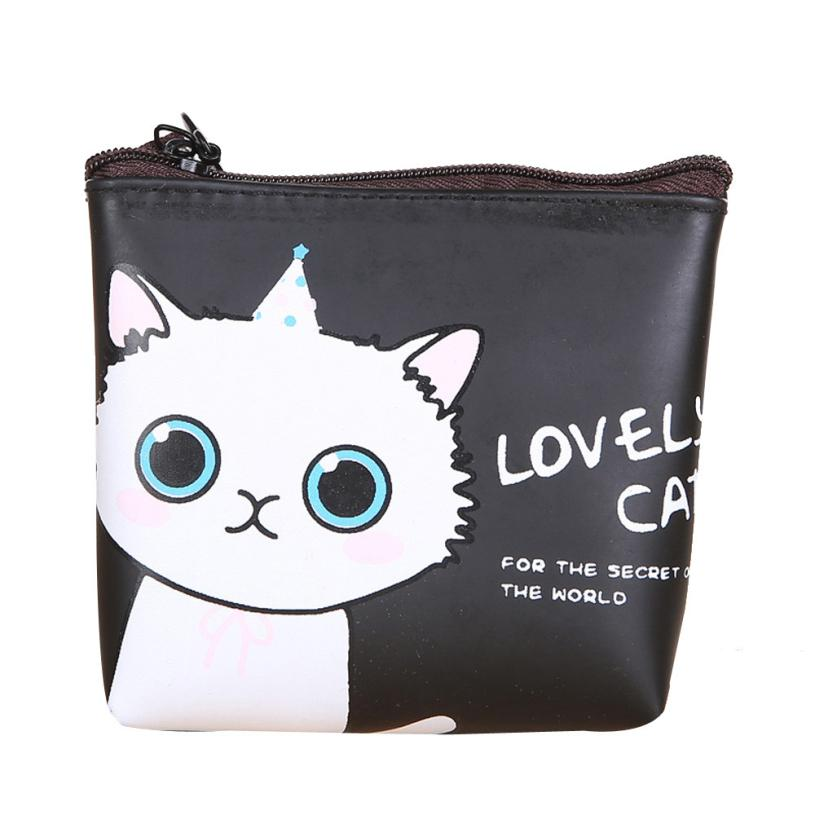 Women Girls Cute Cat Coin Purse Wallet Bag Change Pouch Key Holder Small Mini Purse Drop Ship Wholesale #Y