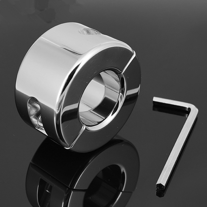 980g Stainless Steel Heavy Penis Ring,Training Penis Growth,Scrotum Testicle Lock,Cock Ring,Cock Clamp,Adult Game G7-36