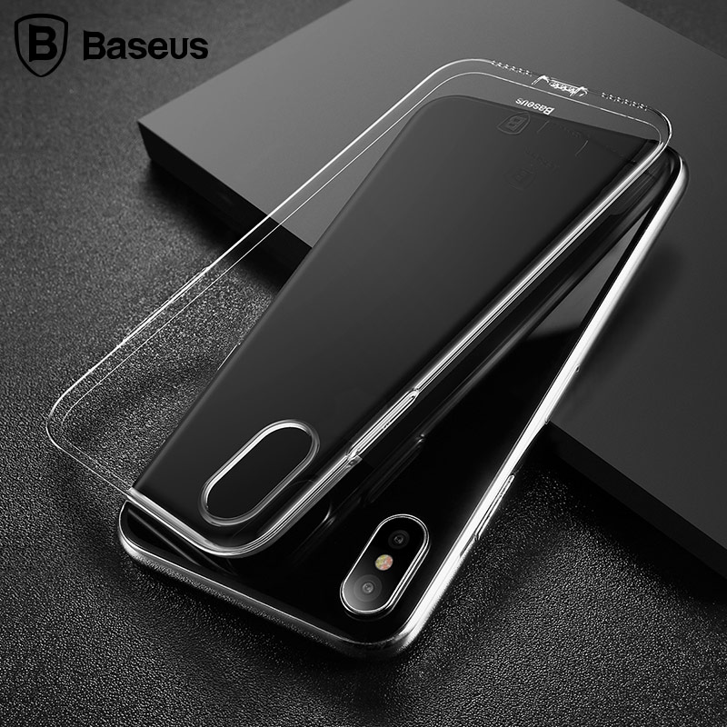 best loved 66f56 c0b14 US $4.99 |Baseus Dust Proof Case For Apple iPhone X Transparent Soft TPU  Case Cover For iPhone X Luxury Silicon Coque For iPhoneX Cases-in ...