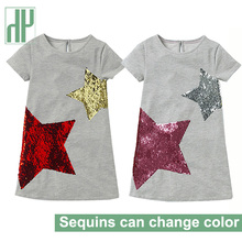 Little Girls Dresses 2019 Children Party Princess Costume Kids Print Sequin Dress Kids Summer Dresses Casual 4 To 5 10 Years 4 to 16 years kids