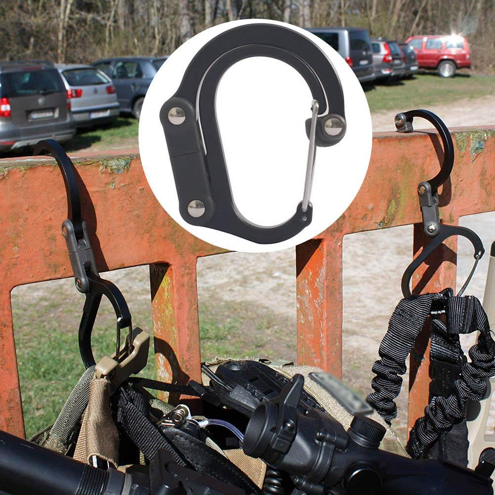 Getriebe Clip Karabiner Rotierenden Haken Starke Clips für Camping Wandern Reise Rucksack Outdoor Aluminium D Ring Haken 5,84*4,85 cm