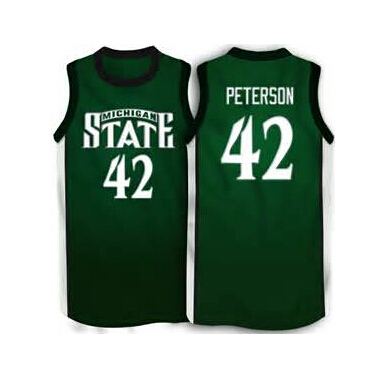 check out 4264a d6e19 42 Morris Peterson Michigan State Spartans Basketball Jersey ...