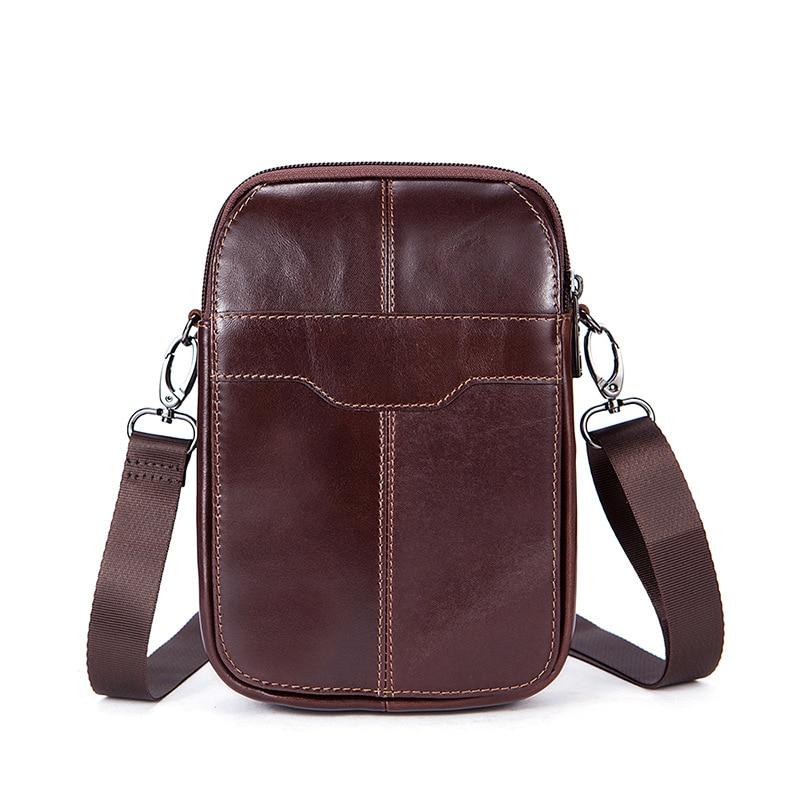 купить Genuine Leather shoulder bags Men MINI Messenger a Bag Casual Natural cowhide Crossbody Bag handbag for Man Fashion Travel Bag по цене 773.32 рублей