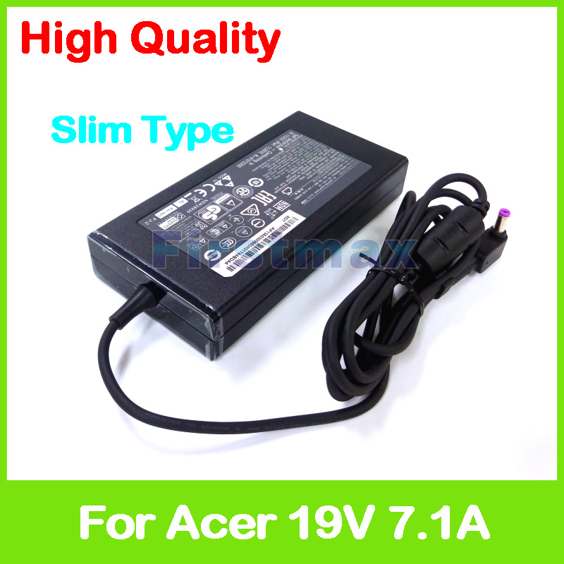 Slim 19V 7.1A AC power adapter laptop charger for Acer Aspire 7 A715-71 A717-71 A715-71G A715-72G A717-71G A717-72G VX5-591 slim 19v 7 1a 135w laptop ac power adapter charger for acer aspire v15 nitro vn7 592 vn7 592g v5 591 v5 591g vx5 591g pa 1131 16