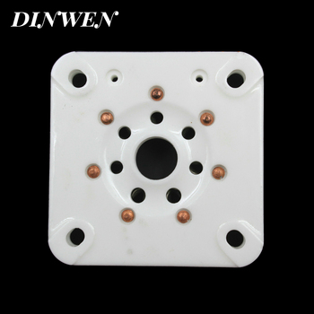 1PC 7PIN TUBE SOCKET B7A Ceramic VALVE BASE for 813 FU-13 4B27 5-125B 8001 Vintage Audio Amplifier DIY Project Chassis Mount image