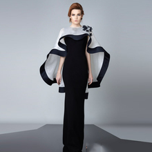 Arabisch Dubai Schwarz Lange Mantel Abendkleider Mit Jacke Appliques Kaftan Robe De Soiree Rouge Longue Kleid Abendkleid