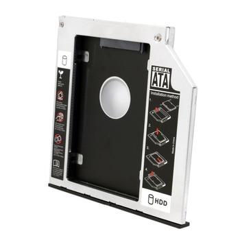 SATA 22pin HDD HD Hard Disk Drive Caddy Case for 12.7mm Universal Laptop CD / DVD-ROM Optical Bay цена 2017