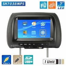 """1 единица 7 дюймов подголовник Автомобильный экран монитор задняя подушка на сиденье монитор 800*480 """" цифровой светодиодный экран SH7038Monitor"""