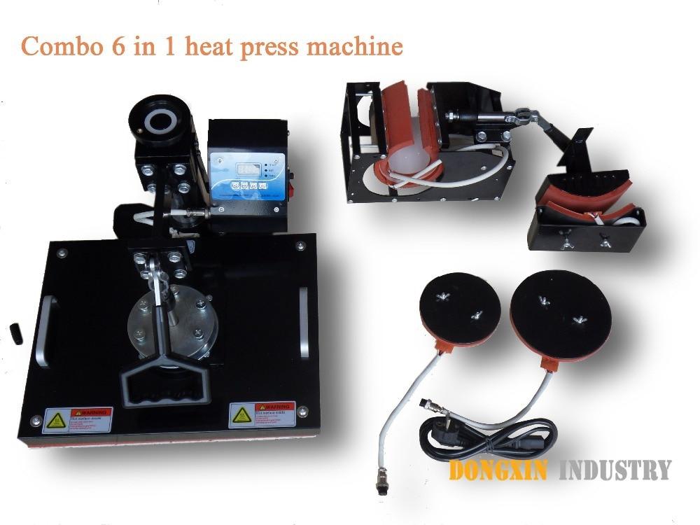 6in1 heat press machine for Mug Hat Plate DX 0601 heat transfer printing machine