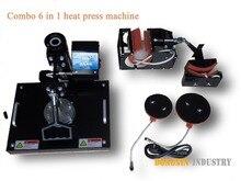 6in1 машина давления жары для Кружки, Шляпа, Пластины DX-0601 теплообмена печатная машина