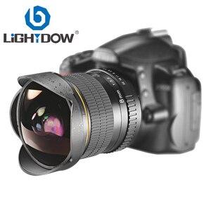Lightdow 8 мм F3.0 ультра Широкий формат Fisheye объектив для цифровой зеркальной камеры Nikon Камера D3100 D3200 D5200 D5500 D7000 D7200 D7500 D90 D7100