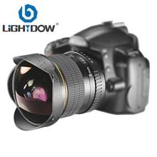 Lightdow 8 مللي متر F3.0 زاوية واسعة للعين السحرية جدا عدسات لنيكون DSLR كاميرا D3100 D3200 D5200 D5500 D7000 D7200 D7500 D90 D7100