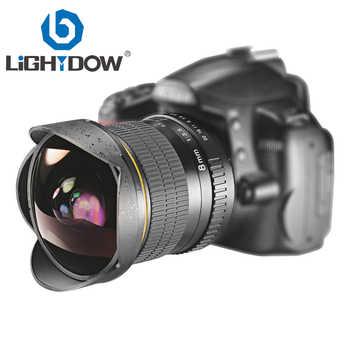 Lightdow 8mm F/3.5 Ultra Wide Angle Fisheye Lens for Nikon DSLR Camera D3100 D3200 D5200 D5500 D7000 D7200 D7500 D90 D7100 - DISCOUNT ITEM  30% OFF All Category