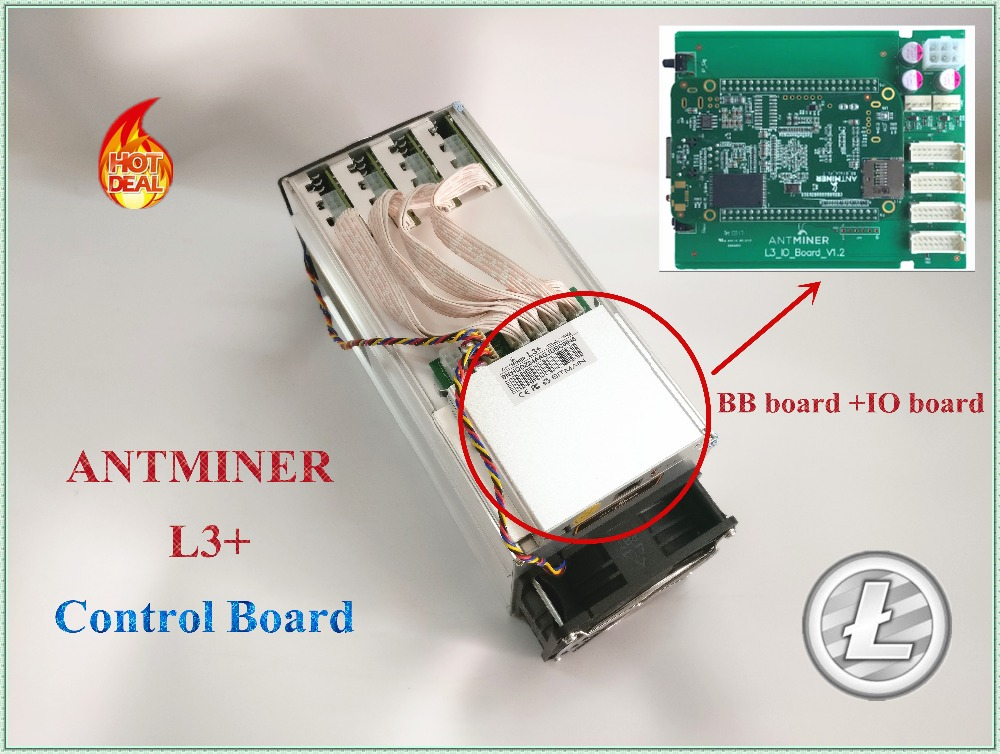 ANTMINER L3+ Control Board new control board include IO board and BB board suitable for ANTMINER L3+.FROM YUNHUI dashboard control board include io board and bb board bitcoin mining machine part for antminer l3 d repair parts