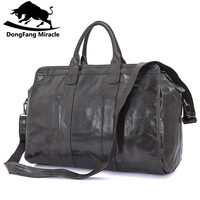 Brand Men's vintage extra large travel bag Package Large Capacity Portable Shoulder leather duffel bag men travel Bags