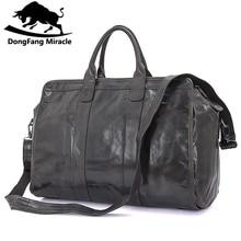 a8024e3e89 Brand Men s vintage extra large travel bag Package Large-Capacity Portable  Shoulder leather duffel bag