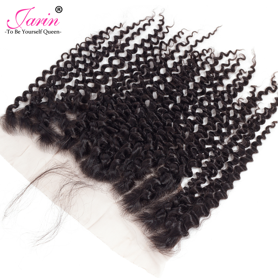Jarin 13*4 Swiss Lace Frontal Closure Kinky Curly Indian Hair Extension Non Remy Frontal With Baby Hair 1PC Free Shipping 70-80g
