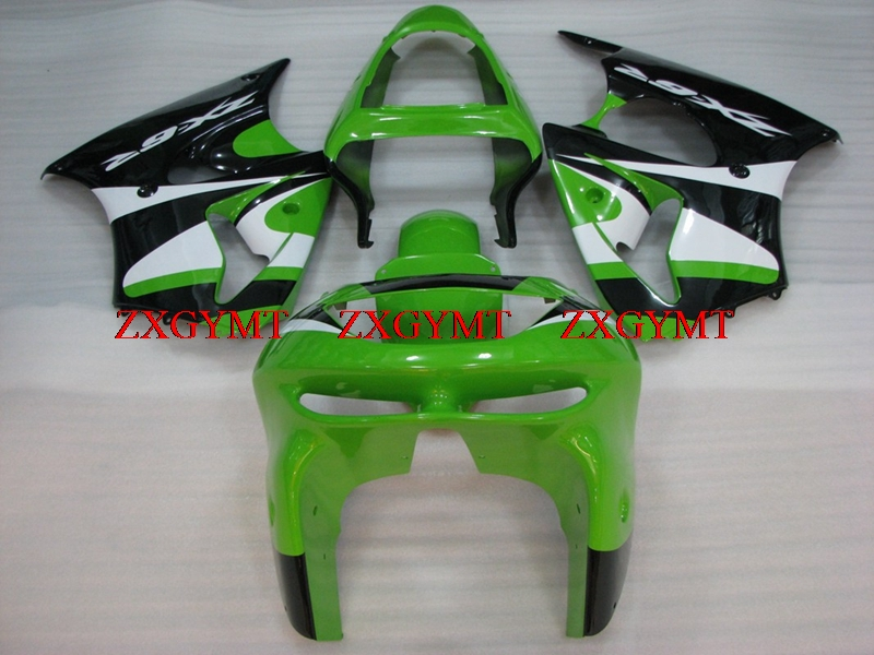 Plastic Fairings for Ninja Zx-6r 1998 - 1999 Fairing for Kawasaki Zx6r 99 Green Black White Motorcycle Fairing Zx6r 98Plastic Fairings for Ninja Zx-6r 1998 - 1999 Fairing for Kawasaki Zx6r 99 Green Black White Motorcycle Fairing Zx6r 98