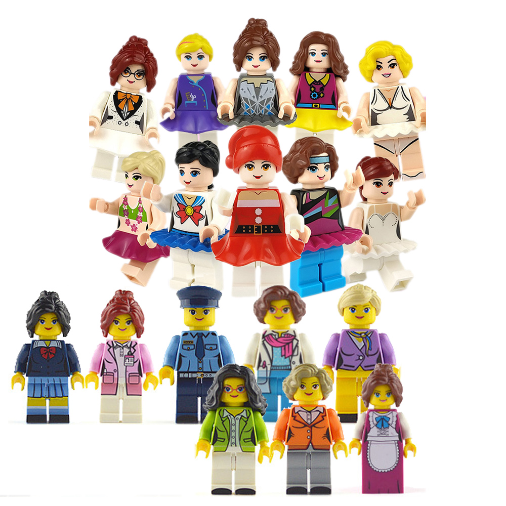 Girl Profession Series Compatible Block Friends Building Bricks Toys Scene Pretend Game Toys Gift