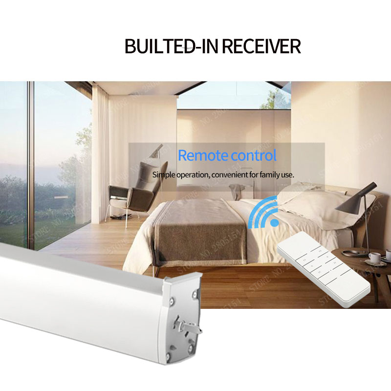 WIFI Electric Curtain Motor, Tuya smart app /Remote Control vioce control via alexa echo and Google home for smart home