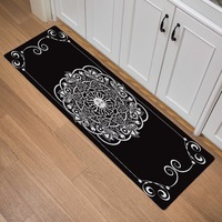 European Striped Plaid Print Prayer Doormats Outdoor Welcome Entrance Kitchen Carpet Indoor Bathroom Non slip Floor Mat 120/150