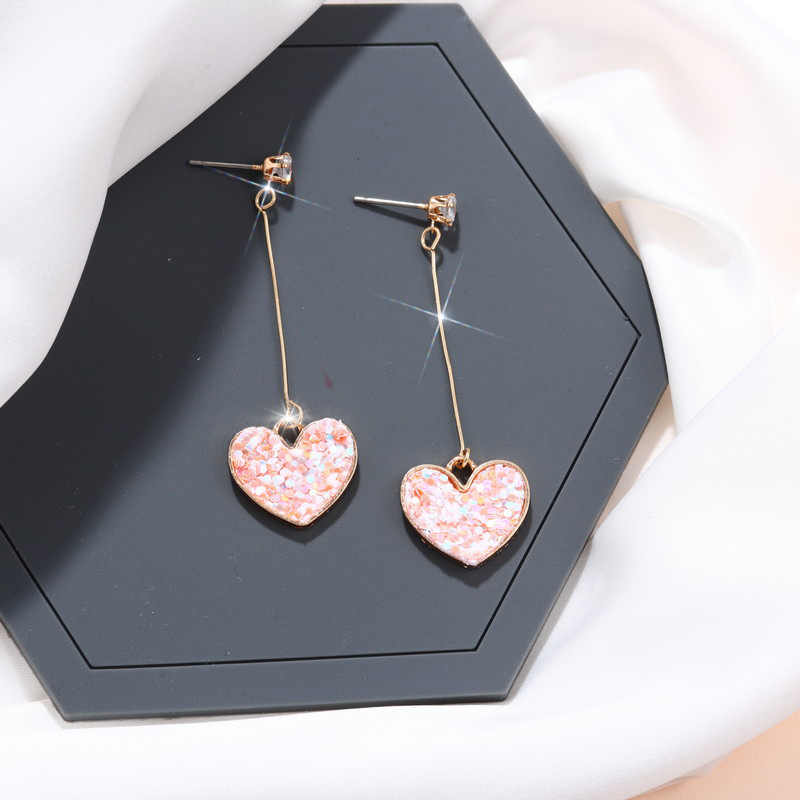 New Imitation Pearl Heart Leaf Crystal Flower Tassel Star Earrings Geometry Drop Earring For Women Statement Earrings Wholesale